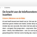 acquisitie column de kracht van de telefoonstem